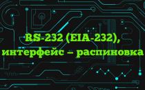 RS-232 (EIA-232), интерфейс — распиновка