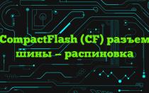 CompactFlash (CF) разъем шины — распиновка