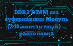 DDR2 DIMM без буферизации Модуль (240-контактный) — распиновка